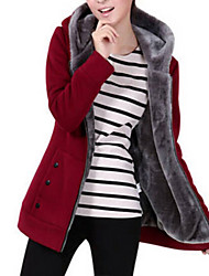 cheap -Women's Maternity Hoodie Jacket Solid Colored Basic Hoodies Sweatshirts  Wine Black Red / Winter