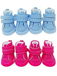 cheap -Dogs Boots / Shoes Sports & Outdoors Casual / Daily Solid Colored Cute Classic For Pets Lining Fabric Canvas leather Fuchsia / Winter