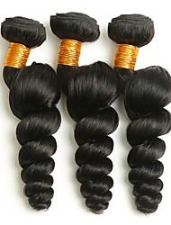 cheap -3 Bundles Peruvian Hair Wavy Human Hair Human Hair Extensions 8-28 inch Natural Color Human Hair Weaves Extention Hot Sale Human Hair Extensions / 8A