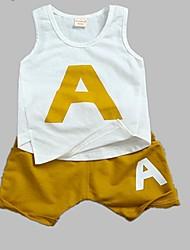 cheap -Toddler Boys' Active Daily Sports Print Print Sleeveless Regular Regular Cotton Clothing Set Green