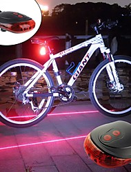 cheap -Laser Bike Light Rear Bike Tail Light Safety Light LED Mountain Bike MTB Bicycle Cycling Waterproof Portable Alarm Warning Rechargeable Battery 300 lm Batteries Powered Red Blue Cycling / Bike