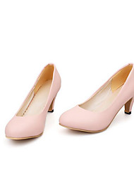 cheap -Women's Heels Stiletto Heel PU(Polyurethane) Comfort Spring / Fall Black / Gray / Pink / 2-3 / 3-4