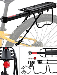 cheap -Bike Cargo Rack Max Load 50 kg Adjustable Quick Release Easy to Install Aluminum Alloy Mountain Bike MTB Road Cycling - Black