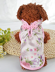 cheap -Dogs Cats Coat Dog Clothes Green Pink Costume Husky Dalmatian Shih Tzu Silk Embroidered Stylish Ethnic S M L