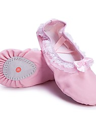cheap -Girls' Dance Shoes Canvas Ballet Shoes Lace Flat Flat Heel Customizable Pink / Indoor / Practice
