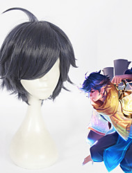 cheap -Cosplay Cosplay Cosplay Wigs All 12 inch Heat Resistant Fiber Blue Anime
