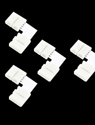 cheap -4pcs 4-Pins Solderless Connector For 10MM 5050 RGB LED Strip Lights