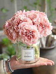 Недорогие -Искусственные Цветы 5 Филиал Свадьба Свадебные цветы Пионы Букеты на стол