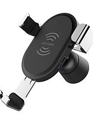 Недорогие -беспроводное автомобильное зарядное устройство гравитационное устройство вентиляционный держатель телефона qc 3.0 быстрое зарядное устройство зажим розетки (прикуриватель не входит в комплект)