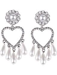 cheap -Drop Earrings Drop Heart Ladies European Korean Pearl Earrings Jewelry Gold / Silver For Party / Evening Date