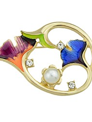 cheap -Brooches Flower Ladies Basic Fashion Brooch Jewelry Gold For Daily Date