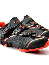 cheap -Tiebao® Mountain Bike Shoes Carbon Fiber Anti-Slip Cycling Black / Orange Men's Cycling Shoes / Breathable Mesh / Hook and Loop