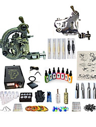 cheap -BaseKey Tattoo Machine Starter Kit - 2 pcs Tattoo Machines with 7 x 15 ml tattoo inks, Variable Speeds, Professional, Adjustable Alloy LCD power supply Case Not Included 20 W 1 steel machine liner