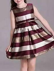 cheap -Kids Girls' Stripes Daily Striped Sleeveless Dress Blue