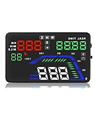 cheap -Q7 5.6 inch LED Wired LED indicator / Plug and play / Multi-functional display for Car / Bus / Truck Driving Speed