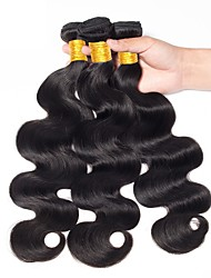 cheap -3 Bundles Indian Hair Body Wave Human Hair Black Natural Color Human Hair Weaves Women New Arrival Coloring Human Hair Extensions / 8A