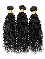 cheap -3 Bundles Peruvian Hair Curly Human Hair Human Hair Extensions Natural Color Human Hair Weaves Extention Hot Sale Human Hair Extensions / 8A