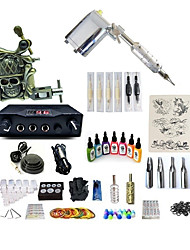 cheap -BaseKey Tattoo Machine Starter Kit - 2 pcs Tattoo Machines with 7 x 15 ml tattoo inks, Variable Speeds, Professional, Adjustable Alloy LCD power supply Case Not Included 20 W 1 rotary machine liner