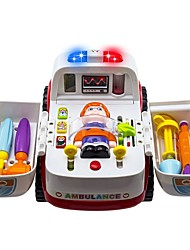 cheap -Toy Car Vehicles Ambulance Vehicle Parent-Child Interaction A Grade ABS Plastic Mini Car Vehicles Toys for Party Favor or Kids Birthday Gift 2-in-1 Ambulance Doctor Vehicle Set / Kid's