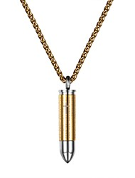 cheap -Women's Men's Pendant Necklace Fashion Stainless Steel Silver Gold Black 55 cm Necklace Jewelry For Daily