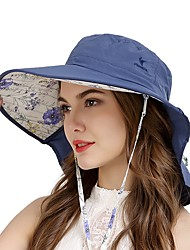 cheap -VEPEAL Running Cap Hiking Cap Hat Wide Brim Lightweight Windproof Sunscreen UV Resistant Solid Colored Fashion POLY Chinlon Spring Summer for Women's Fishing Hiking Traveling Pink Orange Blue