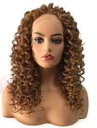cheap -Synthetic Lace Front Wig Curly Middle Part Lace Front Wig Long Strawberry Blonde Synthetic Hair Women's Heat Resistant African American Wig Blonde StrongBeauty
