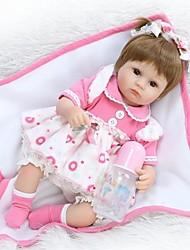 Недорогие -NPKCOLLECTION NPK DOLL Куклы реборн Кукла для девочек Девочки 18 дюймовый Силикон - Новорожденный как живой Милый стиль Экологичные Ручная работа Безопасно для детей Детские Универсальные / Девочки