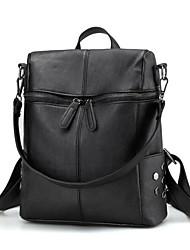cheap -School Bag Women's PU Zipper Daily Black / Blushing Pink / Beige / Gray