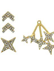 cheap -Women's Stud Earrings Ear Cuff Jacket Earrings Star Ladies Fashion Earrings Jewelry Gold For Gift Date 3pcs