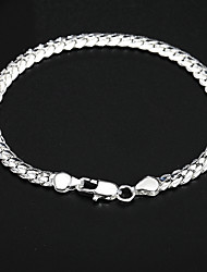 cheap -Bracelet Ladies European Silver Plated Bracelet Jewelry Gold / Silver For Daily