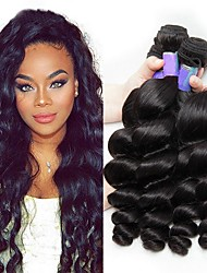 cheap -4 Bundles Brazilian Hair Loose Wave Remy Human Hair Natural Color Hair Weaves / Hair Bulk Bundle Hair Human Hair Extensions 8-28inch Natural Color Human Hair Weaves Fashionable Design Soft Party