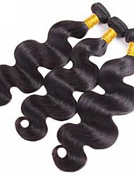 Недорогие -3 Связки Вьетнамские волосы Естественные кудри Не подвергавшиеся окрашиванию 150 g Удлинитель Распродажа брендовых товаров Черный Естественный цвет Ткет человеческих волос / 10A