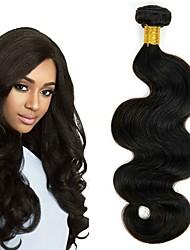 cheap -4 Bundles Peruvian Hair Wavy Human Hair Natural Color Hair Weaves / Hair Bulk Human Hair Extensions Natural Color Human Hair Weaves Extention Hot Sale Human Hair Extensions / 8A