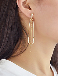 cheap -Drop Earrings Mismatched Ladies Earrings Jewelry Gold / Silver For Daily Date