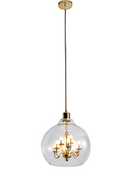 cheap -ZHISHU 9-Light 30 cm Adjustable Chandelier / Pendant Light Metal Glass Electroplated / Painted Finishes Nature Inspired / Chic & Modern 110-120V / 220-240V