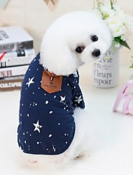 cheap -Dogs Cats Pets Shirt / T-Shirt Dog Clothes Dark Blue Gray Costume Dalmatian Beagle Pug Cotton / Polyester Dot Stars Letter & Number Japan and Korea Style Fashion S M L XL XXL