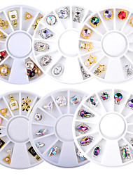 cheap -6 pcs Nail Art Drill Kit Crystal nail art Manicure Pedicure Wedding / Party Evening / Dailywear Metallic