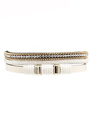 cheap -Women's Leather Bracelet Ladies Fashion Leather Bracelet Jewelry White For Gift Daily