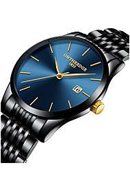 cheap -Men's Dress Watch Oversized Luxury Water Resistant / Waterproof Analog Blue / Black Golden Gold / White / Two Years / Japanese / Chronograph / Large Dial / Japanese