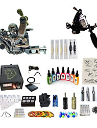 cheap -BaseKey Tattoo Machine Starter Kit - 2 pcs Tattoo Machines with 7 x 15 ml tattoo inks, Variable Speeds, Professional Alloy LCD power supply Case Not Included 20 W 2 alloy machine liner & shader