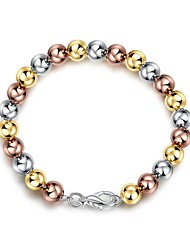 cheap -Women's Chain Bracelet Ball Ladies Fashion Steel Bracelet Jewelry Gold For Gift Daily