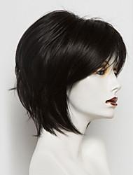 cheap -Human Hair Blend Wig Straight Bob Short Hairstyles 2020 Natural Black Natural Hairline Machine Made Women's Medium Auburn#30 Beige Blonde / Bleached Blonde Jet Black #1 12 inch