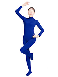 cheap -Zentai Suits Catsuit Skin Suit Adults' Lycra® Cosplay Costumes Fashion Sex Men's Women's Orange / Navy Blue / Yellow Solid Colored Fashion Halloween Carnival Masquerade / High Elasticity