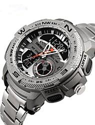 cheap -Women's Digital Watch Japanese Stainless Steel Black / Silver / Grey 30 m 50 m Water Resistant / Waterproof Luminous Noctilucent Analog - Digital Vintage - Black / Red Iron Grey Black / White Two