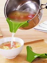 voordelige -Kunststoffen trechter Creative Kitchen Gadget Noviteit Keukengerei Hulpmiddelen Voor kookgerei 1pc