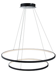 cheap -Ecolight™ 2-Light Circle Pendant Light Ambient Light Painted Finishes Metal Acrylic Dimmable, LED 110-120V / 220-240V Warm White / White / Wi-Fi Smart