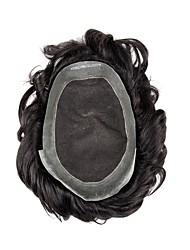 Недорогие -Муж. Натуральные волосы Накладки для мужчин 100% ручная работа Лучшее качество / Горячая распродажа / 100% волосы канекалона