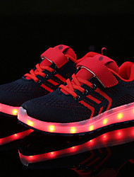 cheap -Boys USB Charging  LED / Comfort / LED Shoes Knit / Tulle Sneakers Little Kids(4-7ys) / Big Kids(7years +) LED Black / White / Royal Blue / Dark Blue Summer / Wedding / TR