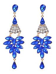 cheap -Women's Crystal Cubic Zirconia tiny diamond Drop Earrings Geometrical Drop Ladies Fashion Oversized Zircon Earrings Jewelry White / Black / Red For Party Work