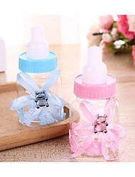 cheap -Circular Plastic Favor Holder with Ribbons / Studded Favor Boxes - 12